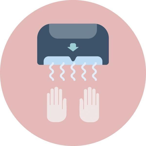 Hand dryer - blue image